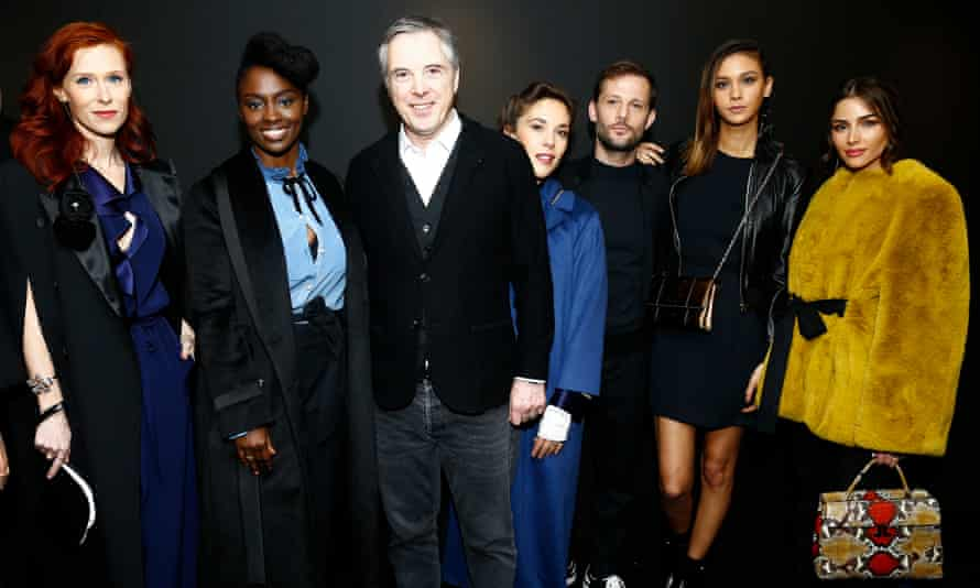 Audrey Fleurot, Aissa Maiga, Olivier Lapidus, Alysson Paradis, Nicolas Duvauchelle, Anouchka and Olivia Culpo attend the Lanvin show in February.