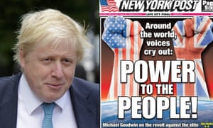 Boris Johnson gets the thumbs up from the New York Post.
