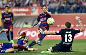 Messi pops up to score.