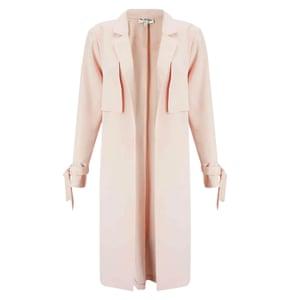 Tie sleeve duster coat