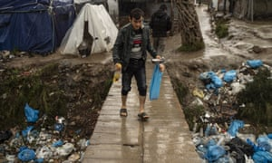 The Moria camp in Lesbos