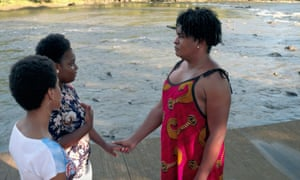 Imara Jones and her cousins talk during the filming of her documentary series Translash