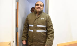 Mohammad El Halabi manager of operations in the Gaza Strip for US-based Christian charity World Vision, is seen before a hearing at the Beersheba district court in southern Israel.