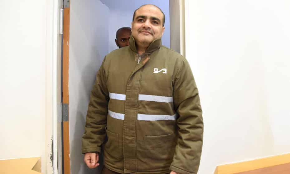 Mohammad El Halabi seen here in 2016 before a hearing at Beersheba district court.