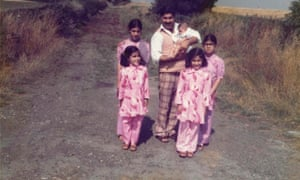 Sayeeda Warsi, far right, at a 'cheer-us-up outing' in Yorkshire with her father and four sisters, including newborn Bushra.