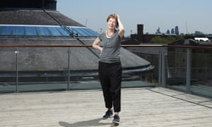 Penny Woolcock on the roof of the Roundhouse in Camden.