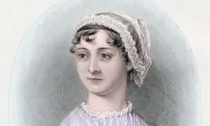 Portrait of English novelist Jane Austen, after a watercolour by Cassandra Austen, from around 1850.