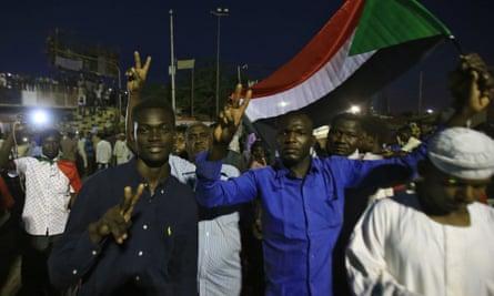Protesters in Khartoum demand the installation of civilian rule.