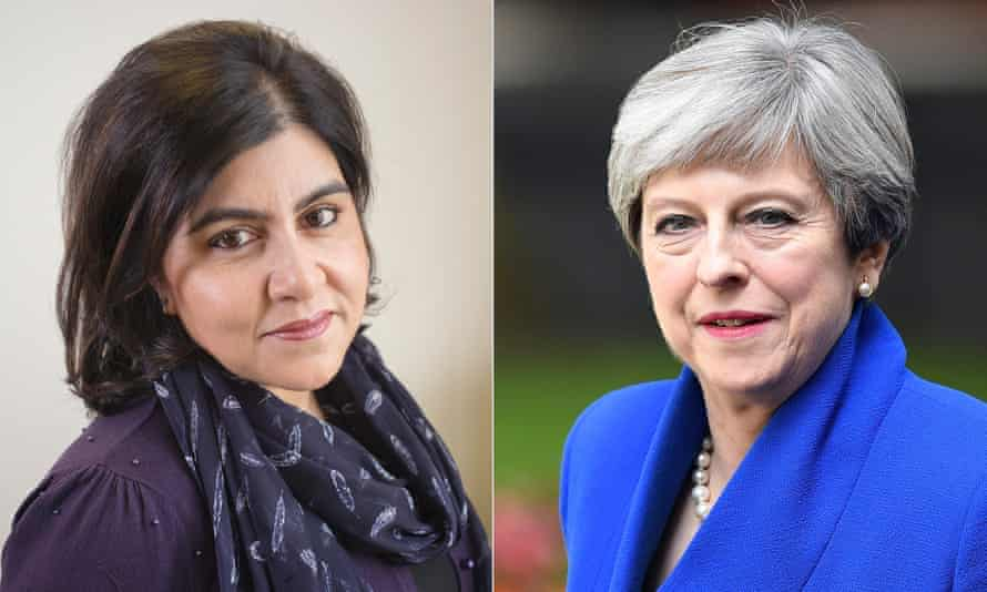 Lady Warsi and the prime minister Theresa May