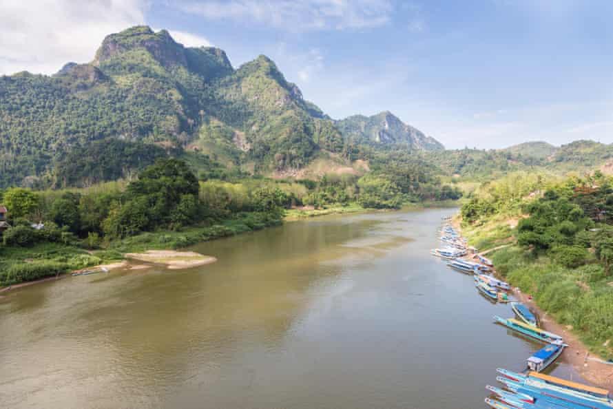 The Ou river by Nong Khiaw.