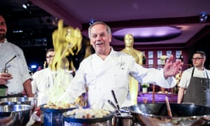 Fire away ... Wolfgang Puck gets ready for the Governors Ball