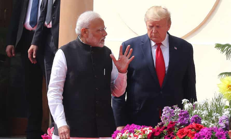 Narendra Modi and Donald Trump during the US president's visit to India in February.