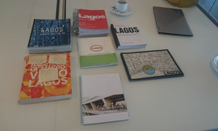 The seven unpublished books about Lagos produced by Rem Koolhaas, Kunlé Adeyemi and Harvard Univeristy.