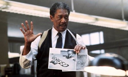Morgan Freeman in Seven – one of many great 1990s movies.