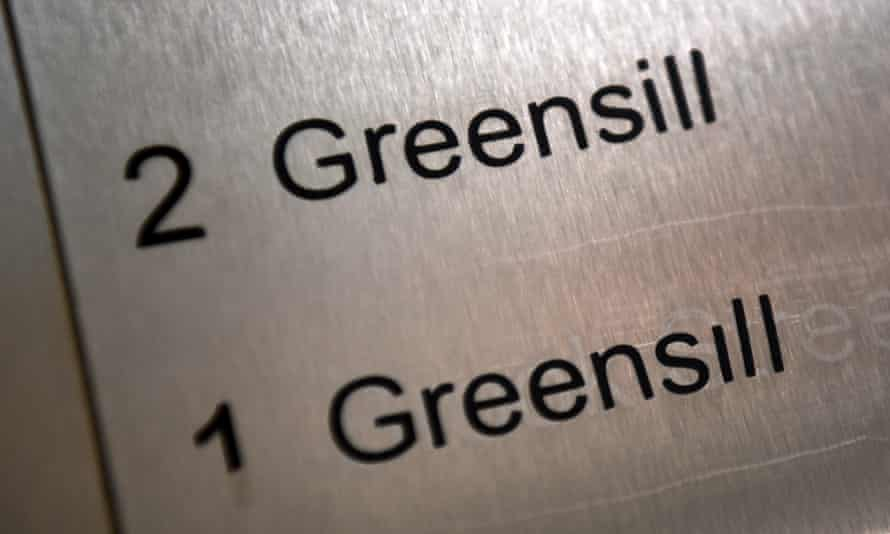 the Greensill building nameplate