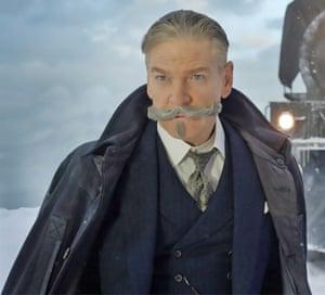 Kenneth Branagh as Poirot.