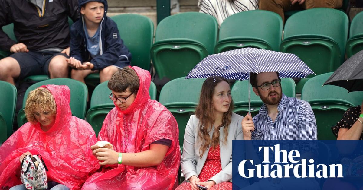 Rain dampens Wimbledon day six as storms forecast for UK