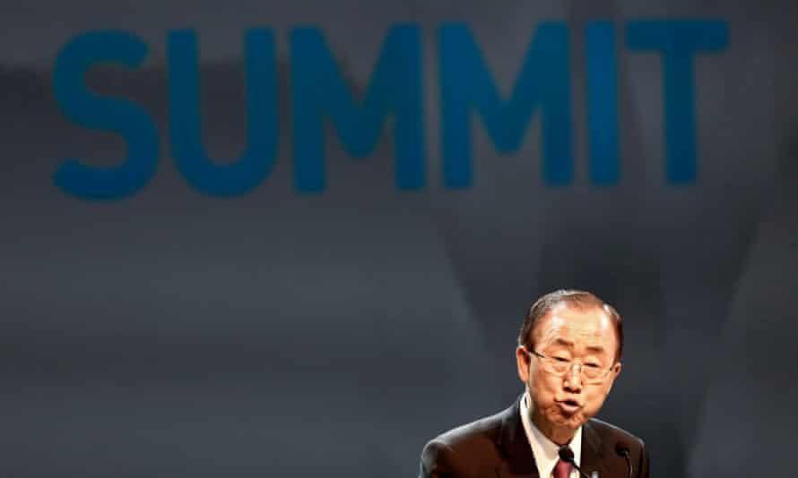 UN secretary general Ban Ki-moon speaks during the opening ceremony at the World Humanitarian Summit.
