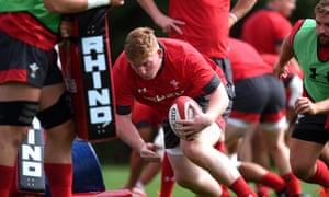 Wales prop Rhys Carre prepares for Saturday's match in Cardiff.