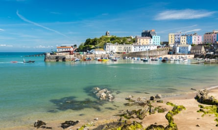 Multi-storey buildings: Tenby's colourful harbour which Roald Dahl loved.