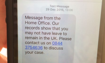 Text from Capita on behalf of Home Office to Haruko Tomioka