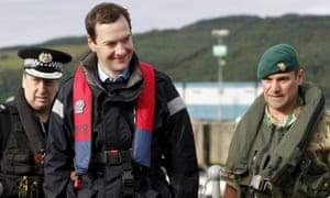 George Osborne in Faslane, Scotland