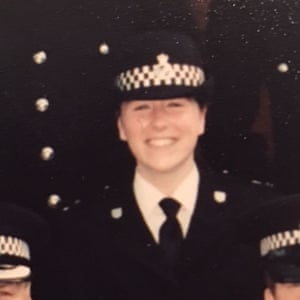 Lorraine Clarke in her days as a policewoman.