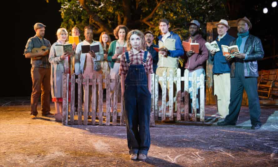 Eleanor Worthington-Cox as Scout in the Regent's Park Open Air Theatre's adaptation of To Kill a Mockingbird.