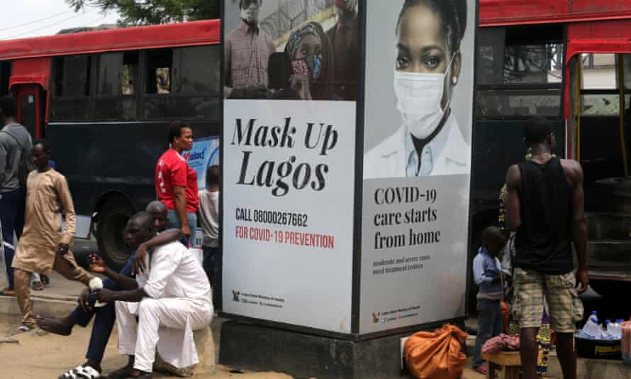 A Covid information billboard in Lagos, Nigeria, a country that is awaiting its first Covid vaccine.