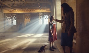 Lyra Belacqua (Dafne Keen) and Mrs Coulter (Ruth Wilson) in His Dark Materials.