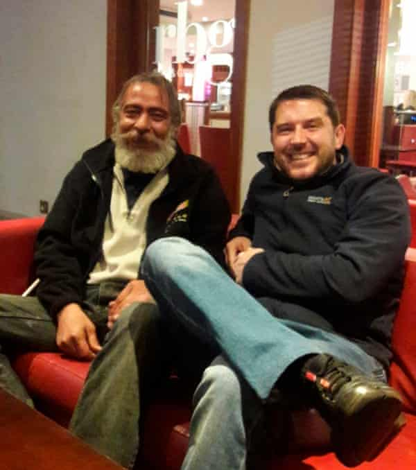 Hamid Alamdari Farahi (left) with Adam Protheroe
