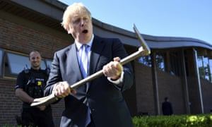 Boris Johnson at the Thames Valley police training centre in Reading, July 2019