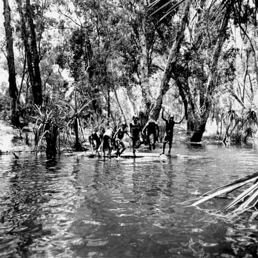 Children playing in river, Mumeka, 1975