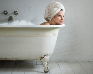 Writer Decca Aitkenhead in an ice bath