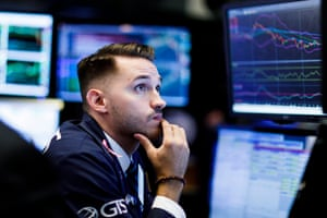 A traders works on the floor of the New York Stock Exchange (NYSE) in New York, New York, USA, on 04 October 2018