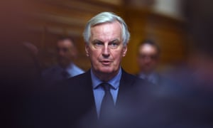 Michel Barnier accuses Theresa May of trying to blame Brussels for the damaging consequences of Brexit.