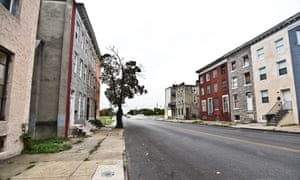 Davon Mayer's old neighborhood in west Baltimore.