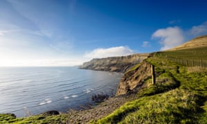 Gad Cliffs near the South West Coast Path.