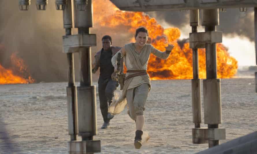 Winning the box-office battle … Star Wars: The Force Awakens.