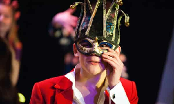 A boy takes part in the Shakespeare Schools Festival, 'which reminds us that it's even more powerful to participate than to watch'.