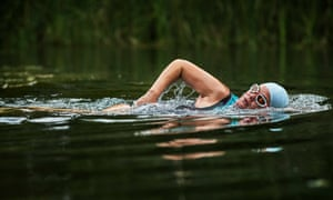 Photos of Alexandra Heminsley for Wild Swimming section, Water Travel Supplement. Photo by Chris Floyd