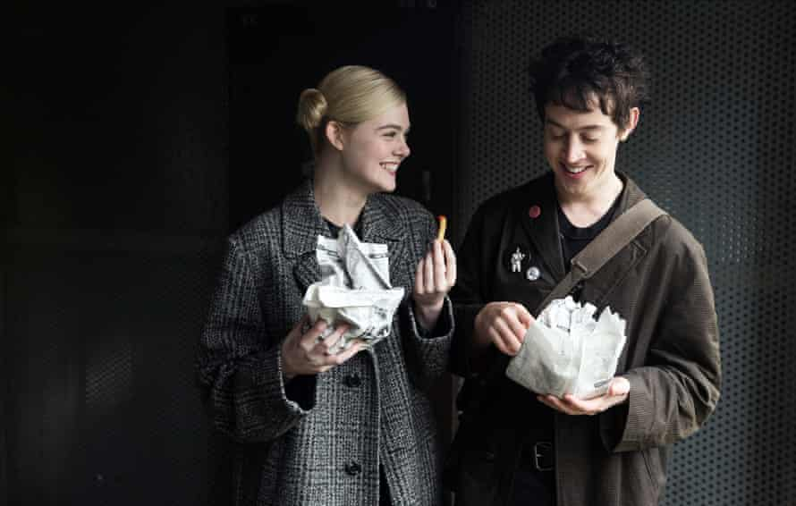 Elle Fanning and Alex Sharp in How to Talk to Girls at Parties.