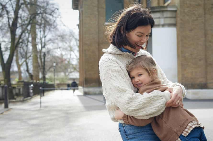 Sophie Howard with her daughter Pearl, outside St John at Hackney church in March