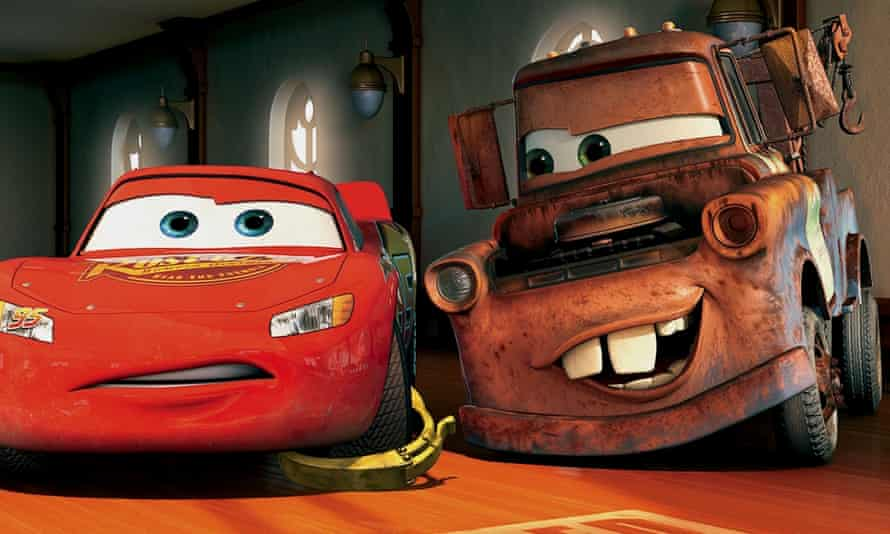 Mater the Tow Truck and Lightning McQueen in Cars
