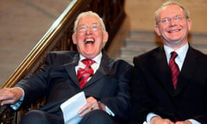 Ian Paisley and Martin McGuinness - the 'Chuckle Brothers' – taking power in May 2007