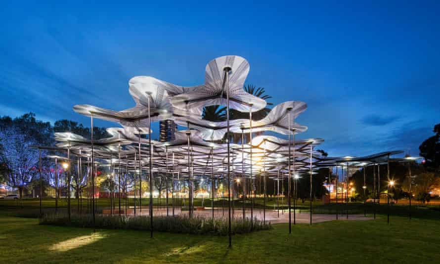 MPavilion designed by the studio of British architect Amanda Levete.