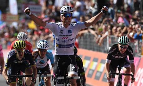Bob Jungels beats Nairo Quintana in sprint to win 15th stage of Giro d'Italia