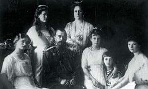 Tsar Nicholas II with his family in 1914.