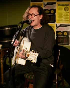 Miles Hunt performing at the Duke William pub.