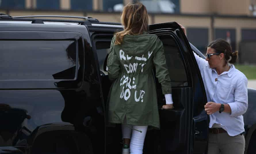 Melania Trump on the infamous jacket: 'It was for the people and for the leftwing media who are criticizing me.'